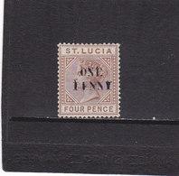 SAINTE LUCIE 1892 VICTORIA Yvert 40 NEUF* - Ste Lucie (...-1978)
