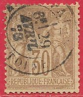 France N°69 Sage 30c Brun Clair (type I N Sous B) 1876 (PARIS 29 AVRIL 78) O - 1876-1878 Sage (Typ I)