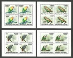 BURUNDI 2011 BIRDS PARROTS DELUXE SHEETS MNH - Burundi