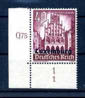 Z39051)Luxemburg 41 ER Mit Form-Nr. 1** - Besetzungen 1938-45