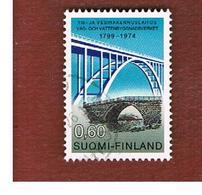 FINLANDIA (FINLAND) -  SG 865  -    1974  FINNISH BRIDGES  -   USED ° - Usados
