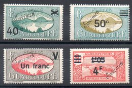A SAISIR - GUADELOUPE - YT N° 165-166-168-171 Rare Surcharge Spécimen - Neufs * - MH - Guadeloupe (1884-1947)