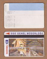 AC - SUBWAY MULTIPLE RIDE METROCARD, BUS CARD #2 ANKARA, TURKEY - Titres De Transport