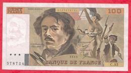 """100 Francs """"Delacroix"""" 1980----VF/SUP---Série C.32 - 1962-1997 ''Francs''"""