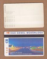 AC - SUBWAY MULTIPLE RIDE METROCARD, BUS CARD #3 ANKARA, TURKEY - Titres De Transport