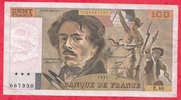 """100 Francs """"Delacroix"""" 1981----F/TTB+---Série E.46 - 1962-1997 ''Francs''"""