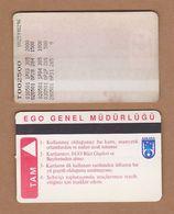 AC - SUBWAY MULTIPLE RIDE METROCARD, BUS CARD #6 ANKARA, TURKEY - Transportation Tickets