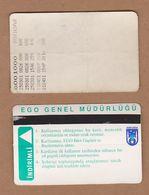 AC - SUBWAY MULTIPLE RIDE METROCARD, BUS CARD #7 ANKARA, TURKEY - Titres De Transport
