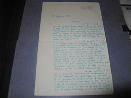 LETTRE AUTOGRAPHE SIGNE DE GEORGES DE CAUNES 1954 JOURNALISTE TELEVISION PIONNIER PERE ANTOINE à LEON TREICH - Autógrafos