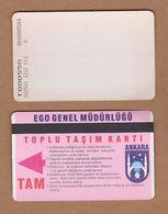 AC - SUBWAY MULTIPLE RIDE METROCARD, BUS CARD #16 ANKARA, TURKEY - Titres De Transport