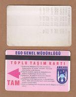 AC - SUBWAY MULTIPLE RIDE METROCARD, BUS CARD #17 ANKARA, TURKEY - Transportation Tickets