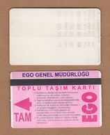 AC - SUBWAY MULTIPLE RIDE METROCARD, BUS CARD #18 ANKARA, TURKEY - Transportation Tickets