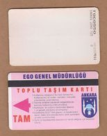 AC - SUBWAY MULTIPLE RIDE METROCARD, BUS CARD #19 ANKARA, TURKEY - Transportation Tickets