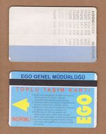 AC - SUBWAY MULTIPLE RIDE METROCARD, BUS CARD #21 ANKARA, TURKEY - Transportation Tickets