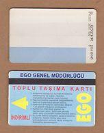 AC - SUBWAY MULTIPLE RIDE METROCARD, BUS CARD #22 ANKARA, TURKEY - Transportation Tickets