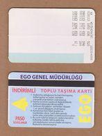 AC - SUBWAY MULTIPLE RIDE METROCARD, BUS CARD #23 ANKARA, TURKEY - Titres De Transport