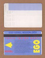 AC - SUBWAY MULTIPLE RIDE METROCARD, BUS CARD #25 ANKARA, TURKEY - Titres De Transport