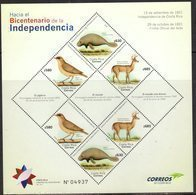 COSTA RICA, 2018, MNH, TOWARDS THE BICENTENARY OF INDEPENDENCE, BIRDS, MANATEES, MARINE LIFE, DEER, SHEETLET - Birds