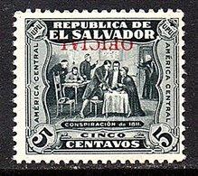 1924 INVERTED OPT. 'Official' Michel Nr. 210 MNH , Very Fine (327) - El Salvador