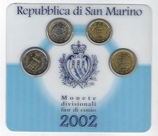 SAN MARINO EUROMUNTEN Short Set 20 + 50 Cent + 1 + 2 Euro - San Marino