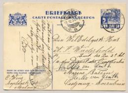 Nederlands Indië - 1934 - 5 Cent Karbouwen, Briefkaart G56 Van LB MALANG/7 Naar LB SOERABAJA/OEJOENG - Nederlands-Indië