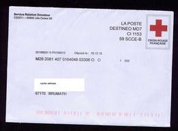 France Destineo Voyagé 2018 Pseudo Entier Croix-rouge Voir Scan - Postal Stamped Stationery