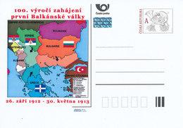 Rep. Ceca / Cart. Postali (Pre2012/55) 100 ° Anniversario Della Prima Guerra Dei Balcani (1912) - Interi Postali