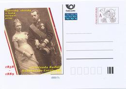 Rep. Ceca / Cart. Postali (Pre2014/04) Rudolf, Principe Ereditario D'Austria E Principessa Stéphanie Del Belgium - Interi Postali