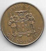 Jamaica 1 Dollar  1993 Km 145a  Vf+ - Jamaique
