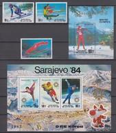 North Korea 20.08.1983 Mi # 2387-89 Bl. 149-50 Sarajevo Winter Olympics (I), MNH OG - Inverno1984: Sarajevo