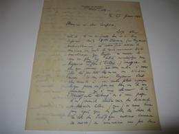 LETTRE AUTOGRAPHE SIGNEE FRANCK-LOUIS SCHOELL 1926 PROFESSEUR TRADUCTEUR SurNOBEL LADISLAS REYMONT POLOGNE à LEON TREICH - Autógrafos