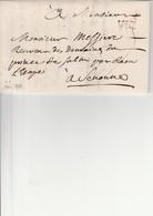 MEURTHE Et MOSELLE : (52) Marque Lenain N°1 De VIC Sur Lettre Du 18 Juin 1755 (Voir Description) - Postmark Collection (Covers)