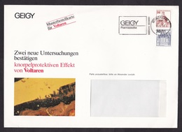 Germany: Advertorial Cover 1983, 2 Stamps, Cancel Geigy Pharmaceutical Company, Voltaren Medicine, Health (minor Crease) - [7] West-Duitsland