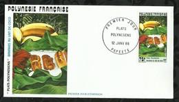 PLATS POLYNESIENS . BANANES AU LAIT DE COCO . 12 JANVIER 1988 . PAPEETE . - FDC