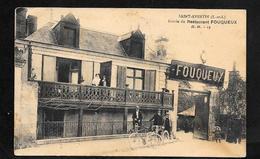 CPA Indre Et Loire 37 St Avertin Entrée Restaurant FOUQUEUX - Saint-Avertin