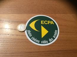 AUTOCOLLANT, Sticker (jaune Vert) «ECPA - Photo Cinéma Vidéo Des Armées» (militaire) - Autocollants