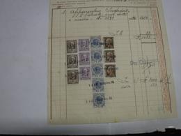 FIRENZE -- MARCA DA BOLLO  ---   RADIOFONIA    --FISCALI -- L.6,00X5 +1,00X3 - Revenue Stamps