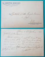 Cartolina Pubblicitaria Ing. Agrippino Mancianti. - Albano Laziale (Roma). Viaggiata In Busta 1931 - Pubblicitari