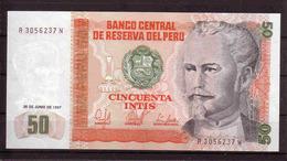 347b * PERU * CINCUENTA INTIS * PERFEKT WIE NEU ** !! - Pérou