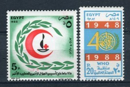 Egipto 1988. Yvert 1363-64 ** MNH. - Poste Aérienne