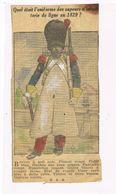 Rare Coupure De Journal.Uniforme Des Sapeurs D'infanterie En 1829  (1) - Uniformes