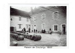 Grande Photographie - Maison De COULANGE 1885 - Coulanges Sur Vineuse 89 ?? Jeu De Quilles Enfants Vigneron Tonneau - Illustrateurs & Photographes