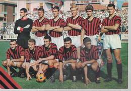 Cartolina Squadra Calcio AC Milan Rosato Innocenti Amarildo Trapattoni Lodetti Mantovani Noletti - Calcio