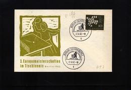 Germany / Deutschland 1962 Berlin  Europa Table Tennis Championship - Tennis De Table