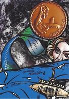 CPM Sous Marin EMERAUDE Madonna Mermaid Jihel Tirage Signé 30 Ex. Numérotés Signés Sirène - Submarines