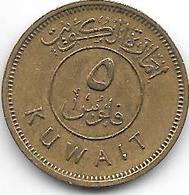 *kuwait 5 Fils 1961 Km 3   Xf+ - Koweït