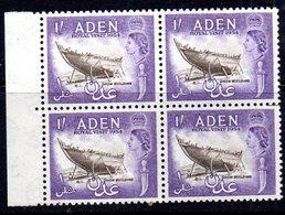 W1013 - ADEN 1954 , Yvert N. 63  Quartina  ***  MNH - Aden (1854-1963)