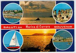 SALUTI   DA   MARINA   DI  CARRARA    SOUVENIR                     (VIAGGIATA) - Italia