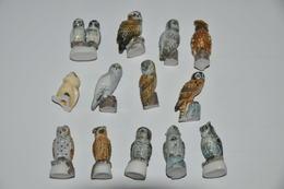 LOT DE 13 PETITES CHOUETTES - Pájaros