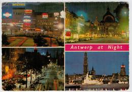 ANTWERP   AT  NIGHT    VIEWS                     (VIAGGIATA) - Antwerpen